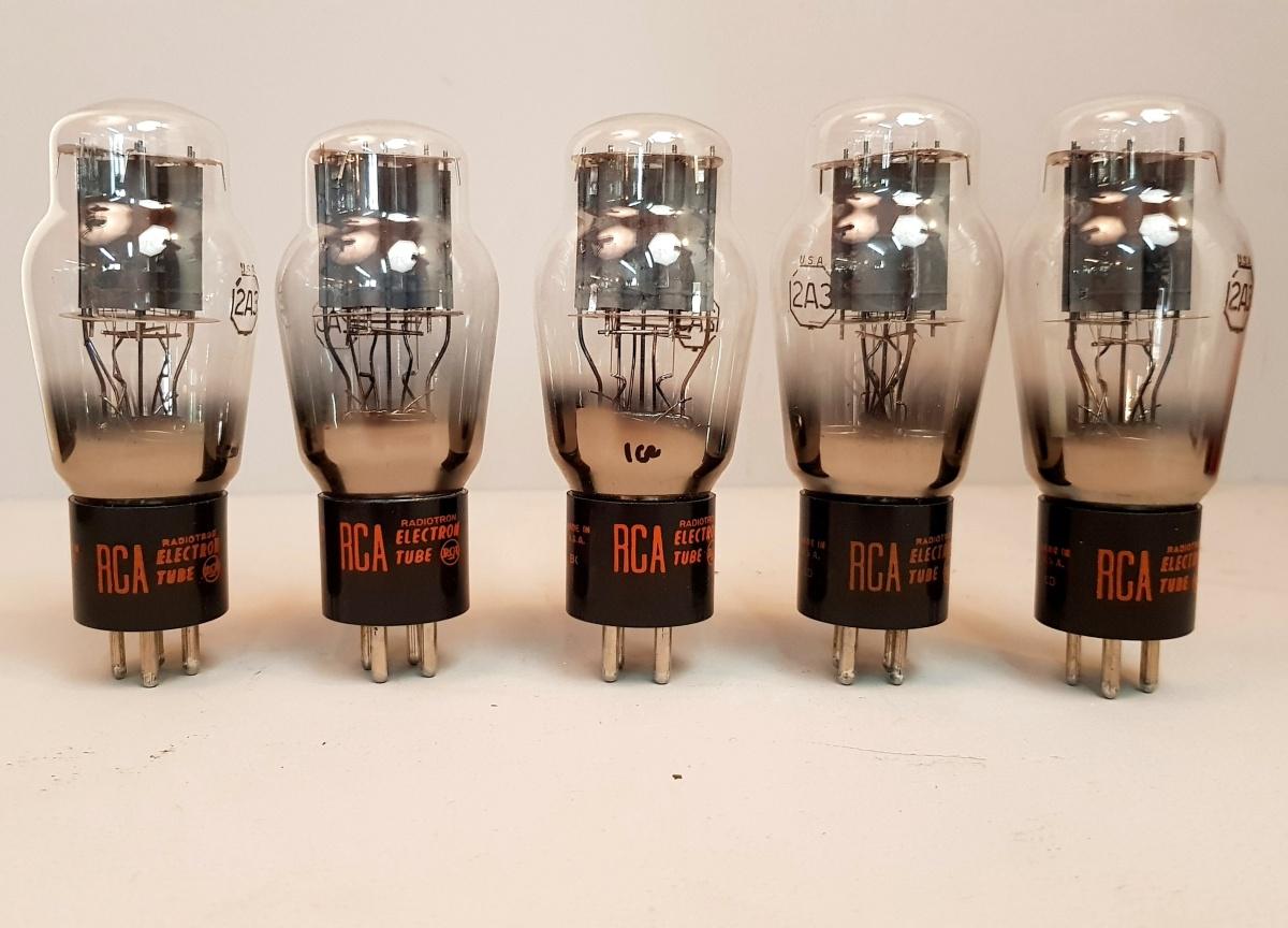 4 valvole  tubes nos  2 pair  2A3 RCA biplacca  021-024