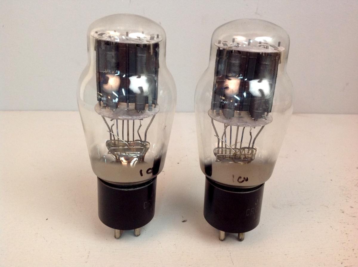 2 valvole tubes nos pair  JAN RCA 2A3 Biplacca 039-040