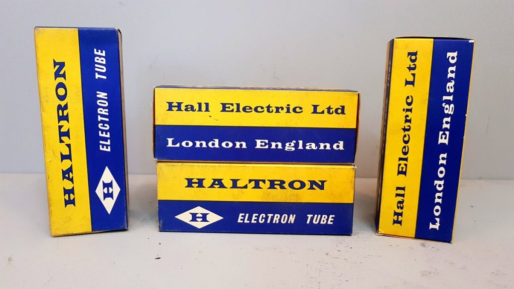4 valvole  tubes NOS  2 pair  2A3 Haltron   001-004