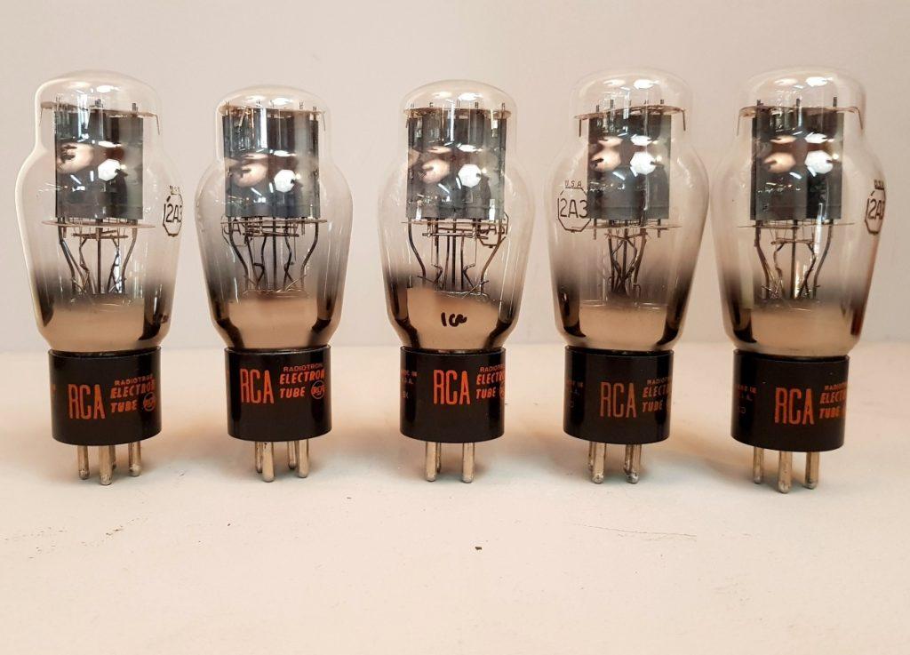 4 valvole tubes NOS 2 pair  2A3 RCA 021-025