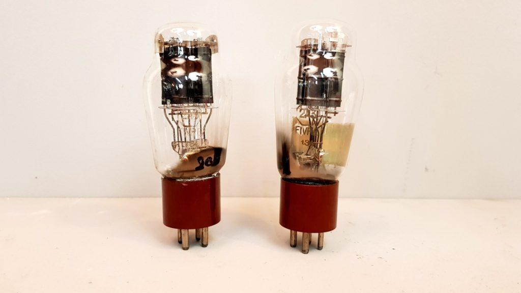 2 valvole tubes    pair  2A3 Fivre  biplacca  010-011