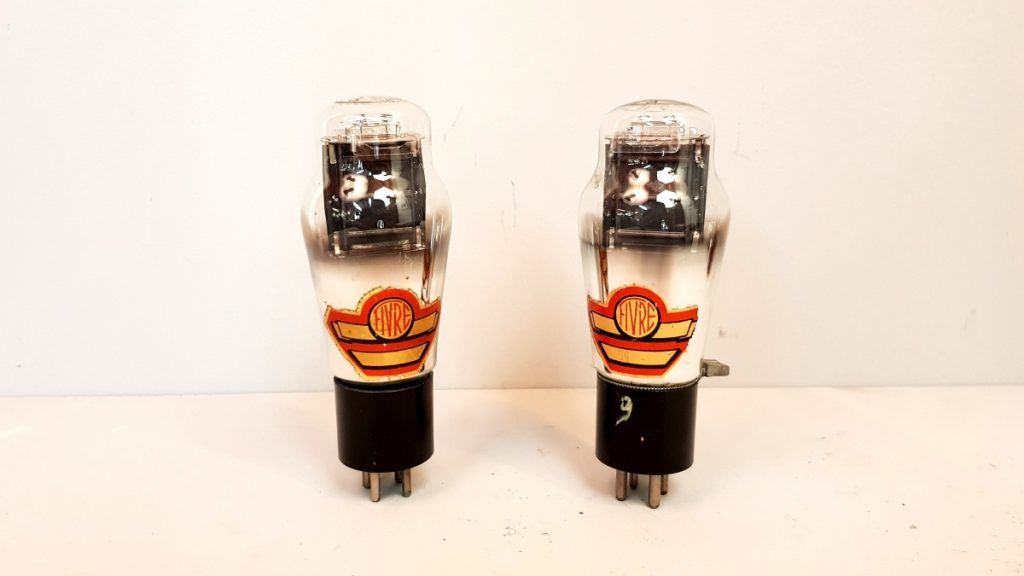 2 valvole tubes  pair  2A3 Fivre rosse monoplacca  014-015