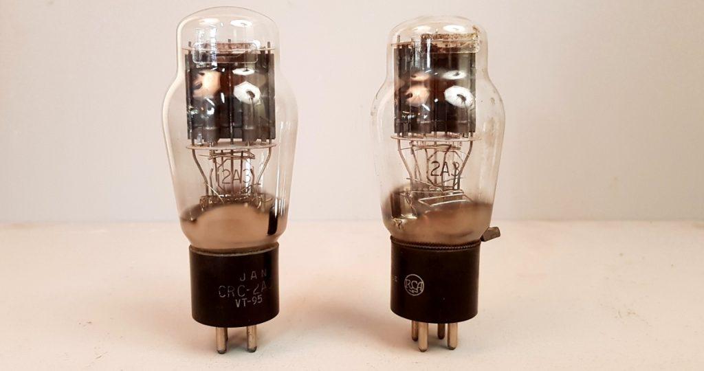 2 valvole tubes  pair  JAN RCA 2A3  035-036