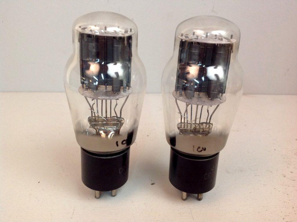 2 valvole tubes pair  JAN RCA 2A3  039-040