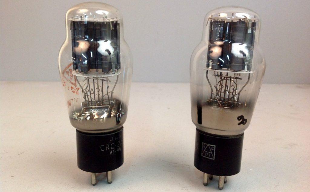 2 valvole tubes pair  JAN RCA 2A3  041-042
