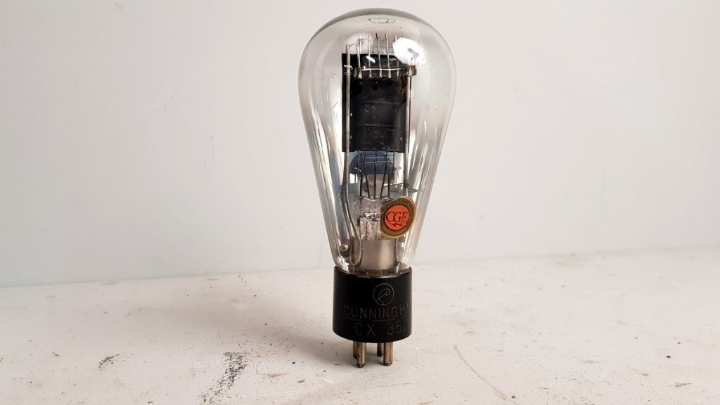 1 valvola tubes  CUNNIGHAN CX350 083