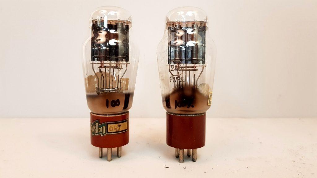 2 valvole  tubes NOS  pair Fivre 2A3 biplacca 016-017