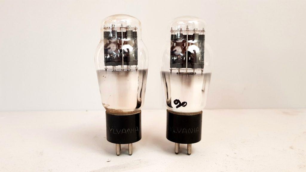 2 valvole tubes  pair  SYLVANIA 2A3  033-034