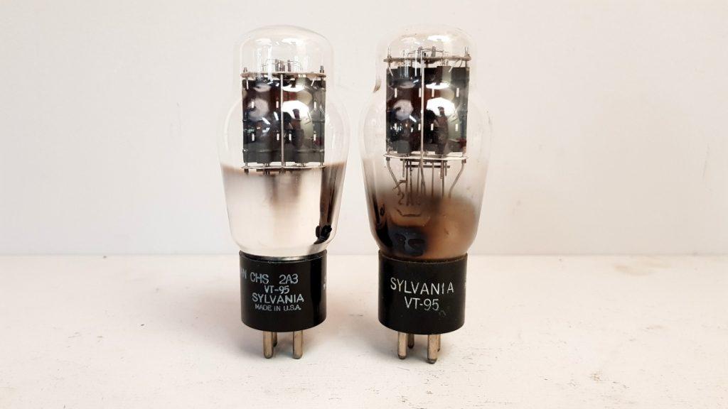 2 valvole tubes pair  SYLVANIA VT95 2A3  043-044