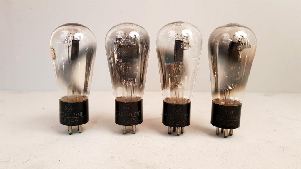4 valvole  tubes 2 pair RCA ux 245  057-060